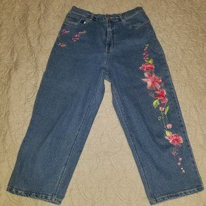 The Quacker Factory embroidered jeans, size 12